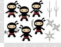 ninja party clipart. Modren Party Ninjas  BUY 2 GET FREE Digital Clip Art Personal And Commercial Use  Tai Kwon Do Boys Karate Nunchuks 475 Via Etsy Inside Ninja Party Clipart X