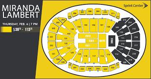 Miranda Lambert Seating Chart Miranda Lambert Sprint Center