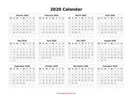 Small Printable 2020 Calendar Blank Calendar 2020 Free Download Calendar Templates