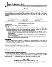 Resume Samples For Registered Nurses