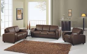 Set Of Chairs For Living Room Brown Sofa Haloe Corner Sofa Brown With Beige Leather And Fabric