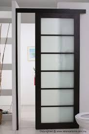 Bathroom Sliding Glass Doors Design Ideas Cool Sliding Door Designs Looking Frosted Single Bathroom