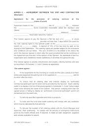 Photography Contracts Food Photography Contract Template