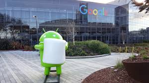 google office in usa. MOUNTAIN VIEW, CA/USA - JANUARY 24: Android Marshmallow (latest OS) Replica In Front Of Google Office On Jan 24, 2016. Specializes Usa