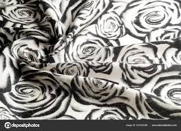 Texture Background Pattern Woolen Scarf Black White Roses Drawn