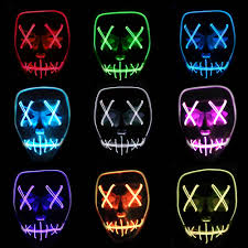 Light Up Skull Mask Us 7 85 45 Off Led Light Up Flashing Skull Mask Skeleton Halloween Rave Party Favor Cosplay Parti Malzemeleri Glow Party Supplies Da In Glow Party