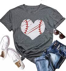MYHALF Cute Graphic <b>Tee Shirts</b> for Women Teen <b>Girls</b> Baseball ...