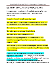 weak rhetorical analysis essays mrs wendy scruggs ap english language compositionidentifying explaining rhetorical strategiespoor papers are easy
