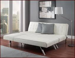 Queen Sofa Guest Sleeper Bed Sectional Couch Faux Leather Futon
