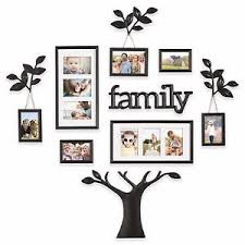 image is loading 12 piece collage picture photo family tree frame  on tree photo collage wall art with 12 piece collage picture photo family tree frame set black wall art