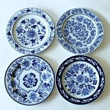 wall decor plates 1 piece antique porcelain blue and white decorative plates for hanging plate craft wall decor plates