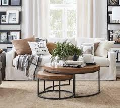 york slope arm slipcovered fabric sofa
