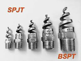 <b>5pcs</b> New SPJT <b>316L Stainless Steel</b> Spiral Cone Spray Nozzle 1 ...