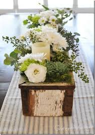 floral arrangements dining room table. long wood box filled flowers and candles for dining room table floral arrangements i