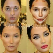 highlight if you need to contour your face to hide things or change your appace that much