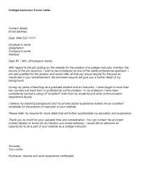 How To Write A Cover Letter For Teaching College Cover Letter For