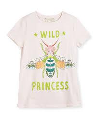 gucci tee. short-sleeve wild princess bee tee, size 4-12 gucci tee