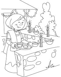 diwali drawing coloring pages