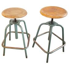 pair of french industrial adjustable stools at stdibs