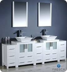 double vessel sink vanity. 60 Inch White Double Bathroom Vanity To Vessel Sink Com Within Decorations 6