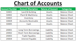 Chart Of Accounts Definition Example Full List Of Chart