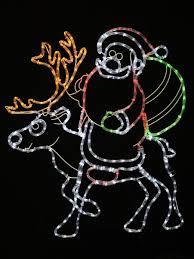 Reindeer Silhouette Lights Santa Riding Reindeer Rope Light Silhouette 93cm
