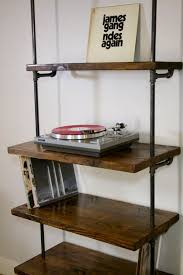 turntable furniture. Industrial Record Shelving Unit Bookcase- Modern Record/ Turntable Storage Shelf Furniture , O