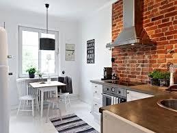 Stylish-kitchen-with brick walls