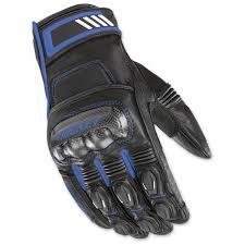 joe rocket men s highside black blue leather gloves