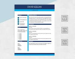 Resume With Reference Cv Resume 2 Page Resume Template Cover Letter Reference Word Resume Two Page Cv Modern Template Resume Instant Download Resume Design