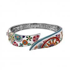 belle etoile enamel pashmina bracelet