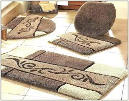 creative memory foam contour bath rug set white cotton rugs brown