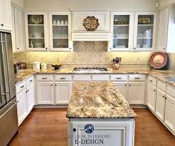 kitchen with maple cabinets and wood floor painted benjamin moore white down kylie m interiors e design paint color consulting granite countertops