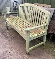 vintage garden hardwood bench wells