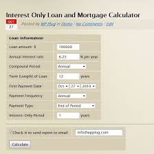 Interest Only Loan Calculation Interest Only Loan Mortgage Calculator
