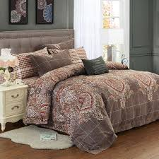 classic brown and red indian pattern moroccan style vintage bohemian style shabby chic full queen size bedding sets
