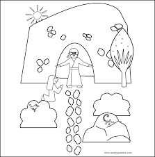 Easter Coloring Pages Sunday School With Printable For Happy