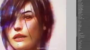 Digital Portrait Painting Digital Portrait Painting By Wojtek Fus Youtube