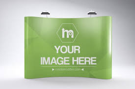 Trade Show Tension Fabric Backdrop Mockup Generator Mediamodifier