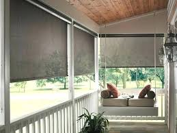 patio door pull down shades outdoor sun immense roll up porch home