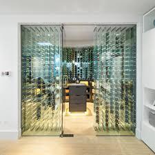 Glass Wine Room Design Tower Wine Rack Wine Cellar Contemporary With Frameless Door