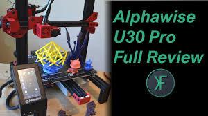 <b>Alfawise U30</b> Pro 3D Printer Full Review - YouTube