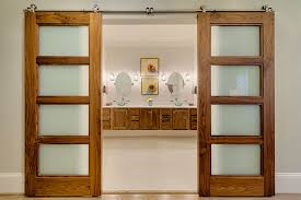 image of bypass barn door hardware for home