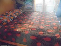 Vintage Didas Dralon Decke Kuvertüre Bettdecke Deken Kariert 1970er Jahre Werfen