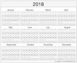 excel 2018 yearly calendar printable 2018 calendar excel template free ms word document