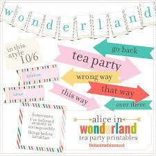 Tea Party Free Printables Alice In Wonderland Tea Party No Sew Tent Peytons Tea