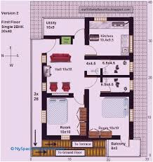 30 x 40 house plans west facing with vastu 92 luxury 2 bhk house plans 30