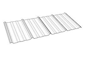 polycarbonate roofing panel with uv protection corrugated