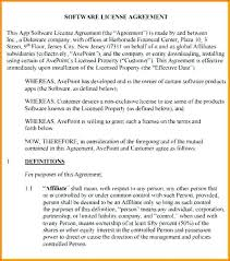 Software License Agreement Template Solutionet Org