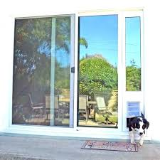 french doors with dog door built in blinds and